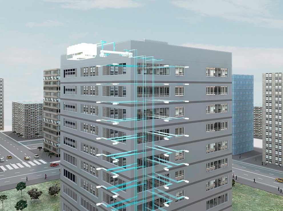 Diseño BIM instalación de climatización